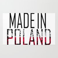 poland Area & Throw Rugs featuring Made In Poland by VirgoSpice