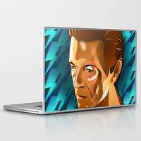 david bowie Laptop & iPad Skins featuring Bowie  by Beth Gatza
