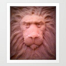 Lion clay Art Print