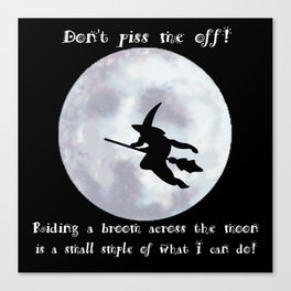 Witch, Witch Flying Across the Moon Canvas Print