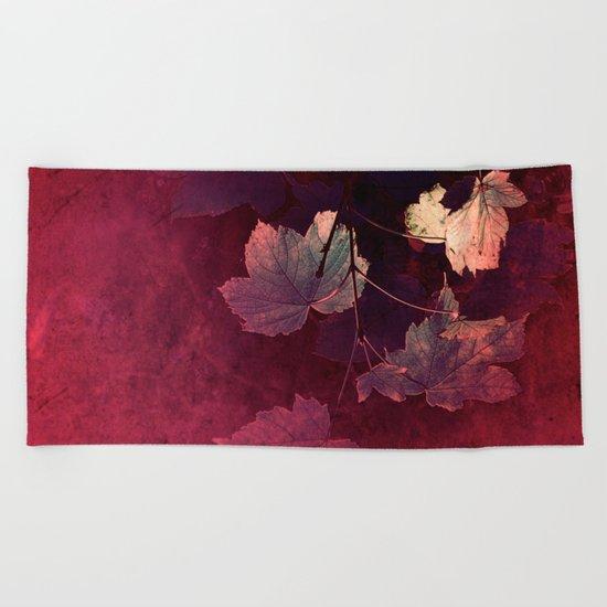 Splendida Bordeaux Beach Towel