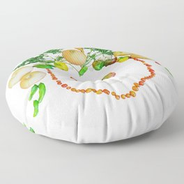 Garden Face Floor Pillow