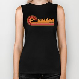 Retro Style Columbus Ohio Skyline Biker Tank