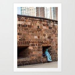 Lazy Lady Liberty Art Print