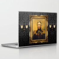 replaceface Laptop & iPad Skins featuring Alan Rickman - replaceface by replaceface