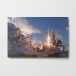 SpaceX Launch Metal Print
