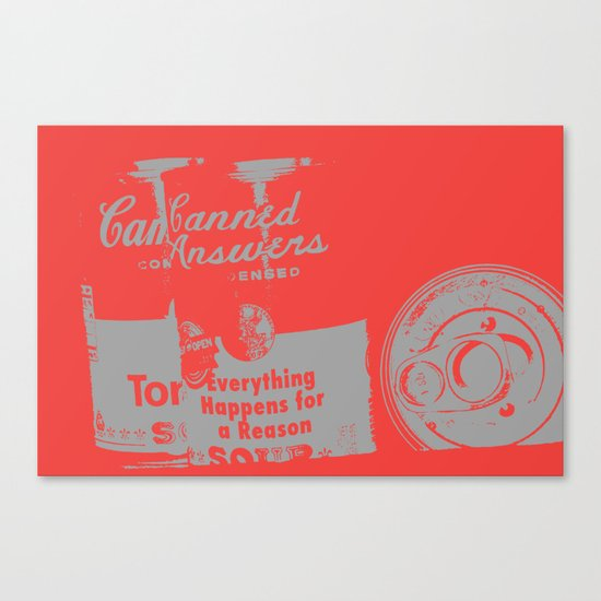 Canned Answers Canvas Print
