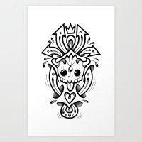 Arrow Skull Art Print