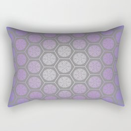 Hexagonal Dreams - Purple Blue Gradient Rectangular Pillow