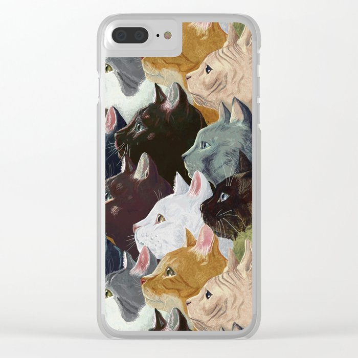 Never ending cats Clear iPhone Case