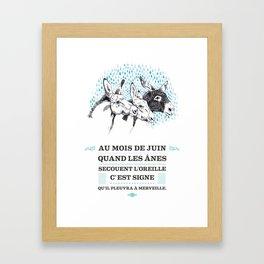 Proverbe de Juin Framed Art Print