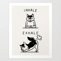 Inhale Exhale Husky Art Print