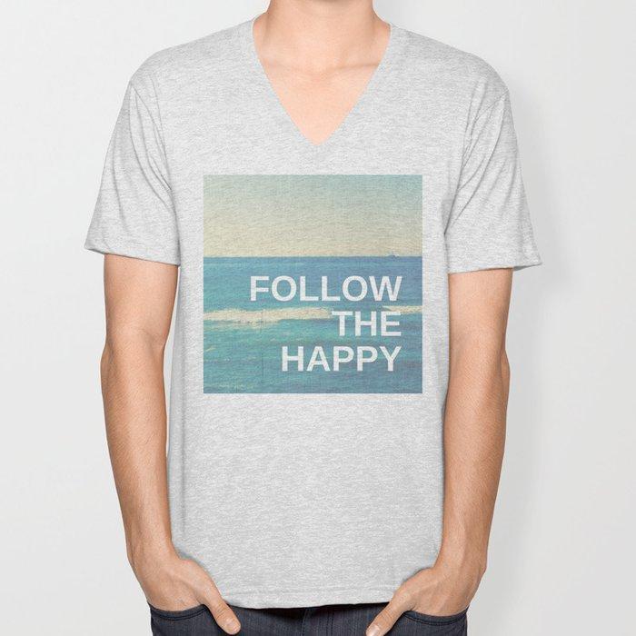 Follow the Happy Unisex V-Neck