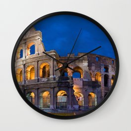 Colosseum By Night Wall Clock