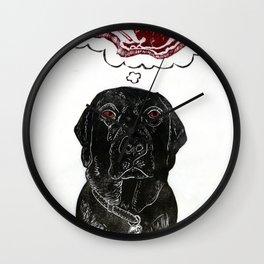 Marley Dreams of Meat Wall Clock