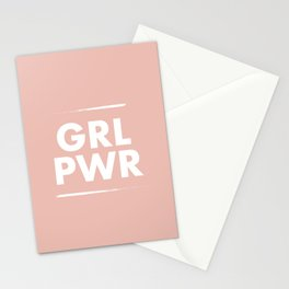 Girl Power / Pink Stationery Cards