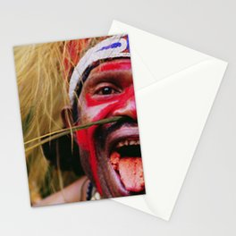 Papua New Guinea Villager Chewing Betel Nut Close-Up Stationery Cards