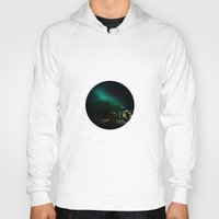 northern lights Hoodies featuring Northern Lights in Tromso by Louise