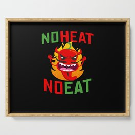 No Heat No Eat Chili Spicy Serving Tray