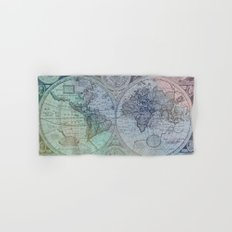 Map of the Colorful World Hand & Bath Towel