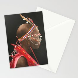African Portrait III Stationery Cards