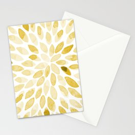 Watercolor brush strokes - yellow Stationery Cards