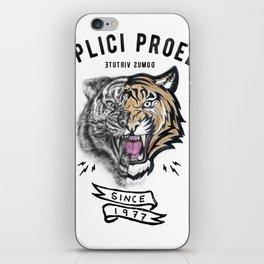 DUPLICI PROELIO Tiger by leo Tezcucano iPhone Skin