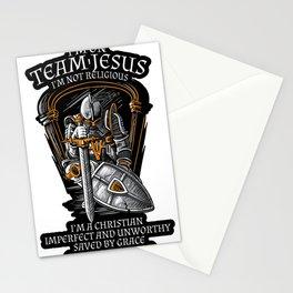 Knight Templar Crusader Shirt - I'm on Team Jesus Stationery Cards