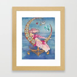 Princess Chibi Moon Framed Art Print