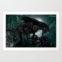 Aliens Swarm Art Print
