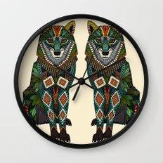 wolf ivory Wall Clock