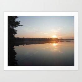 Adirondack Sunrise Art Print