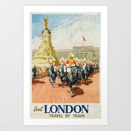 Visit London Vintage Travel Poster Art Print