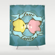 True Luvdisc Shower Curtain