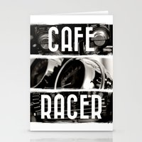 cafe racer Stationery Cards featuring Cafe Racer by Rainer Steinke