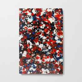 Berlin Stories: Untiled Red & Blue Painting Metal Print