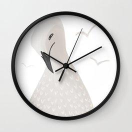 Larus portrait Wall Clock