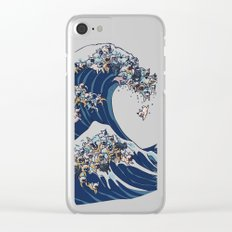 The Great Wave Of  French Bulldog Clear iPhone Case