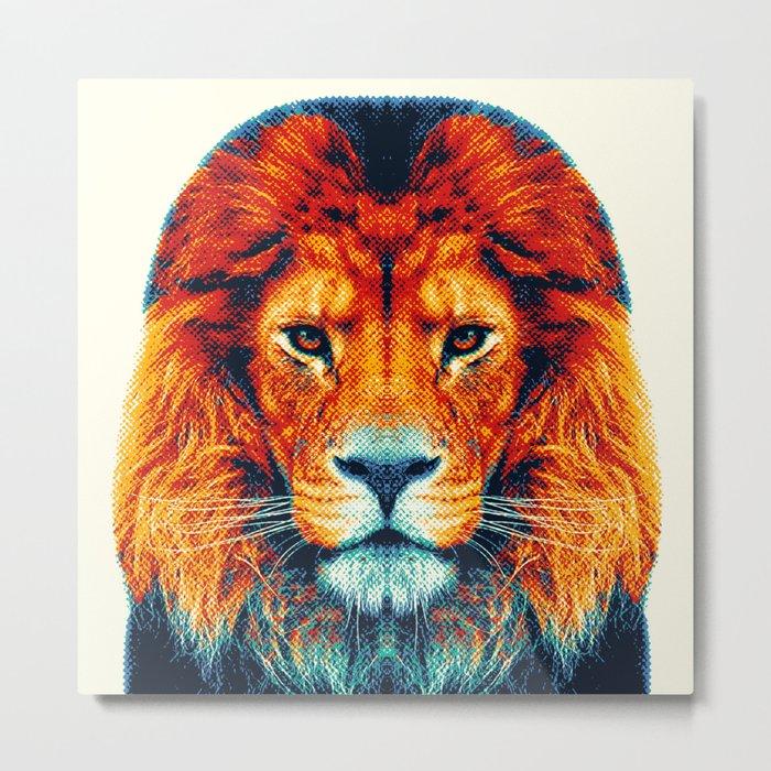 Lion - Colorful Animals Metal Print