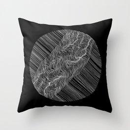 Inverted Rift Throw Pillow