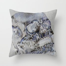 """24 Karat Cranium 2"" Throw Pillow"