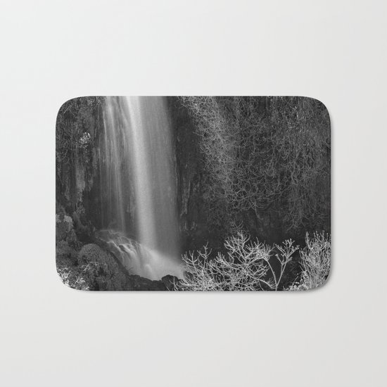 """Magic Waterfall"" BW Bath Mat"