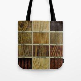 Wood Grain Chart Tote Bag