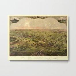 Map Of Lansing 1866 Metal Print