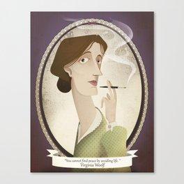 Virginia Woolf  said... Canvas Print