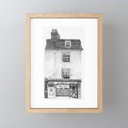 King's Newsagents, Kings Parade, Cambridge, UK. Framed Mini Art Print