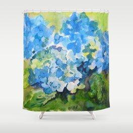 Blue Hydrangeas Shower Curtain