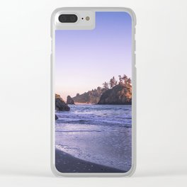 The Cove At Sunset Clear iPhone Case