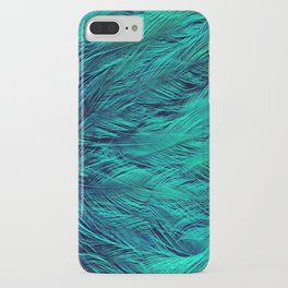 Teal Feathers iPhone Case