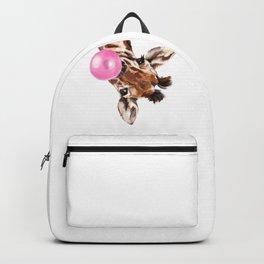 Bubble Gum Sneaky Giraffee Backpack